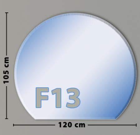Kreisabschnitt F13 Funkenschutzplatte aus Sicherheitsglas