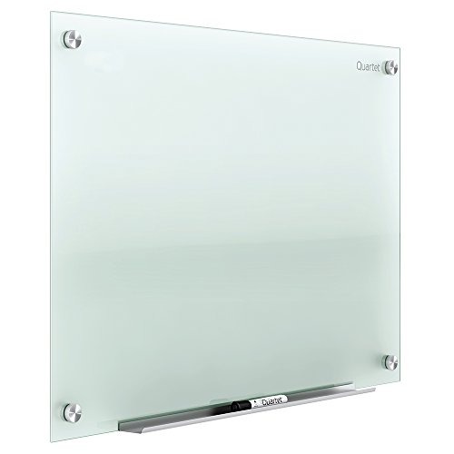 Quartet Glass Whiteboard, Dry Erase White Board, 3' x 2', Frosted Frameless Infinity Wall Mount, Home School Supplies or Home Office Decor, 1 Dry Erase Marker & Marker Tray, Non-Magnetic (G3624F)