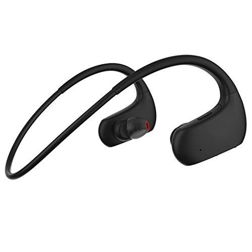 Bluetooth Kopfhörer, Kabellos Bluetooth 5.0 Wireless Kopfhörer mit Integriertem Mikrofon,Hi-Fi Stereo Sound,Deep Bass, Wasserdicht Kopfhörer Sport, für iOS Android Samsung Huawei. Schwarz, HUN110UNH
