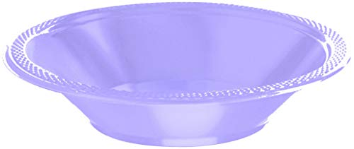 Amscan Party Tableware Plastic Bowls, 7 x 7, Lavender