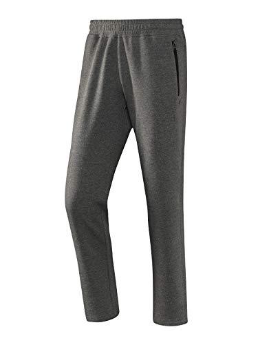 Joy Sportswear MAX Herren Freizeithose, Jogginghose ideal für Sport und Freizeit mit bequemen Bund und seitlichen Reißverschlusstaschen Kurzgröße, 24, Basalt Melange