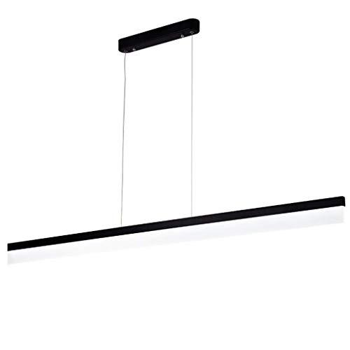 LED Strip Kroonluchters Hanglamp Plafond Hanglamp Verlichting Fixture Aluminium Office Verlichting Eenvoudige Lijn Kantoorverlichting (Kleur : Warm Licht, Maat : 80cm 18W)