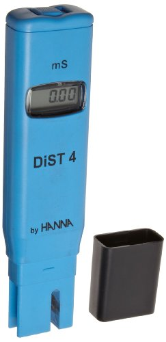 Hanna Instruments HI98304 DIST4 EC and TDS Tester, 19.99 mS/cm, 0.01 mS/cm Resolution, +/-2% Accuracy