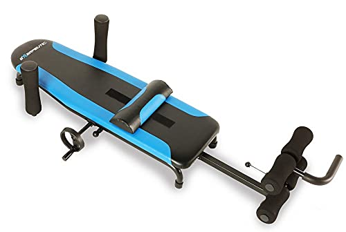 Exerpeutic 100 Back Stretch Traction Table Inversion Table Alternative with 300 lbs Weight Capacity, Blue