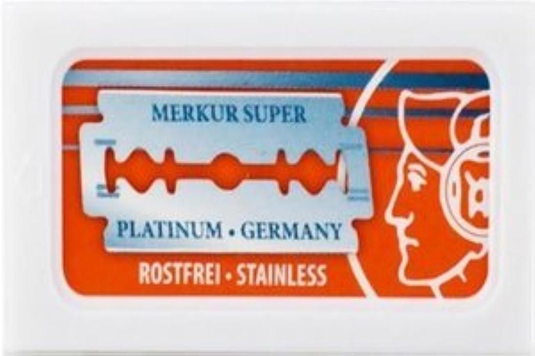 ランク絶望台無しにMerkur Super Platinum 両刃替刃 10枚入り(10枚入り1 個セット)【並行輸入品】