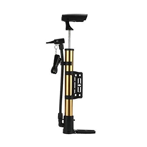 Bomba de aire portable de la mano mini bicicleta bola de neumáticos for inflar con aire de la bomba de aleación de aluminio de alta presión bomba de ciclo de la bici de la montaña MTB ( Color : Gold )