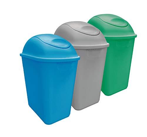 Sablon Botes de basura para reciclaje 26 Litros Ideal para construcción de programas de reciclaje en casa. reciclaje de basura,reciclaje de residuos,cuidado del medio...