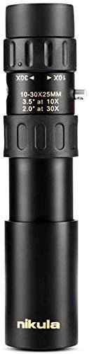 MNBVC Binoculares, monocular HD y de Alta Potencia, Zoom Telescopio monocular de Bolsillo HD Zoom de visión Nocturna para observación de Aves Camping Caza Vida Silvestre Viajes Deportes al Aire Libre