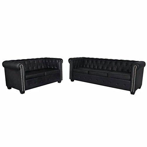 vidaXL Chesterfield Sofa Couch 2-& 3-Sitzer Kunstleder Wohnmöbel Polstergarnitur