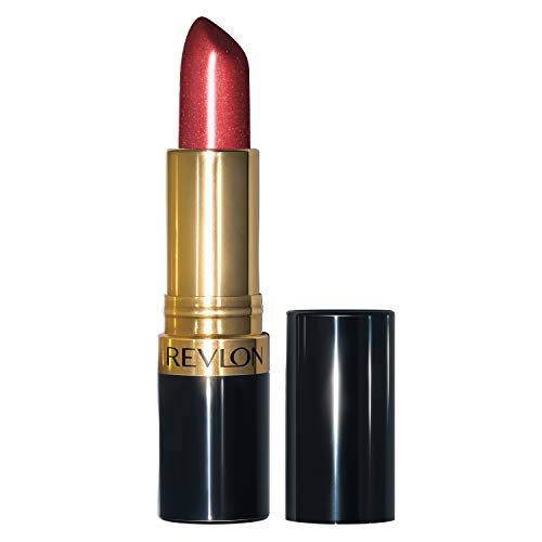 Revlon Super Lustrous Lipstick with Vitamin E and Avocado Oil, Pearl Lipstick in Red, 782 Ruby Attitude, 0.15 oz