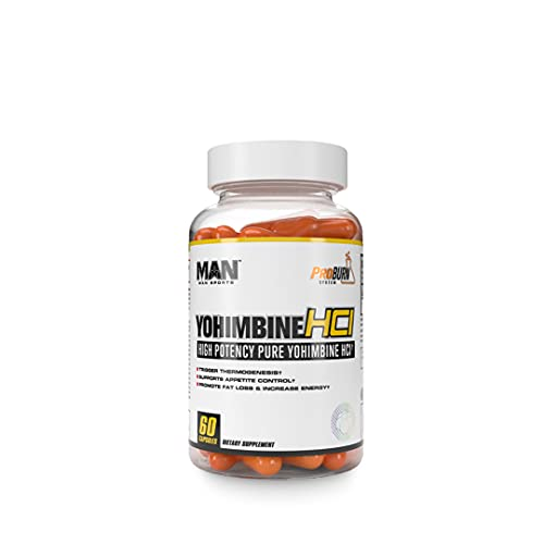 Man Sports Yohimbine. Metabolism Booster for Women and Men. Fat Burning Solution to Burn Calories Control Hunger (60 Capsules)