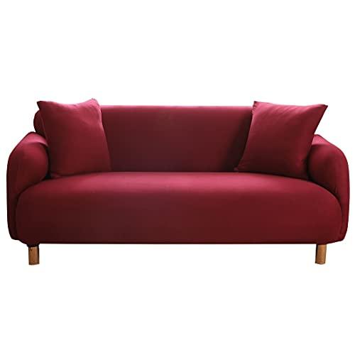 Funda de sofá con diseño de Plumas, Funda elástica Antideslizante Ajustada, Funda seccional de 1/2/3/4 plazas, decoración del hogar de Cuatro Estaciones, A4, 2 plazas