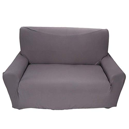 Fundas de sofá de 2 plazas 7 Colores sólidos Funda de Estiramiento Completo Tejido elástico Soft Couch Cover Sofa Protector Muebles de casa (Color : Gris)