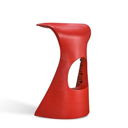 PLL Vrijetijdsbarkruk, modieuze barkruk, creatieve bar, tafel en stoel, kunststof kruk, barkruk Counter Chair, rood.