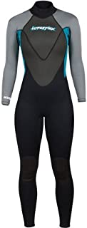 Hyperflex Women's and Men's 3mm Full Body Wetsuit – SURFING, Water Sports, Scuba Diving, Snorkeling - Comfort, Flexible, Anatomical Fit - and Adjustable Collar
