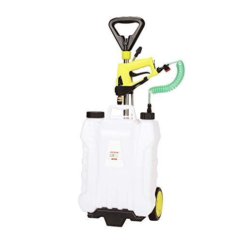 FlowZone Shower 4-Gallon Lithium-Ion Battery Powered Rolling Sprayer (Shower)