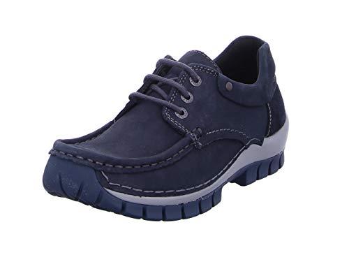 Wolky Comfort Schnürschuhe Fly Winter - 50810 grau-blau geöltes Nubukleder - 40