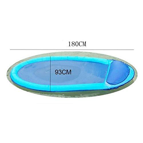 DJYD 180cm Gigante Azul Piscina Silla Flotador Cama de la natación portátil...