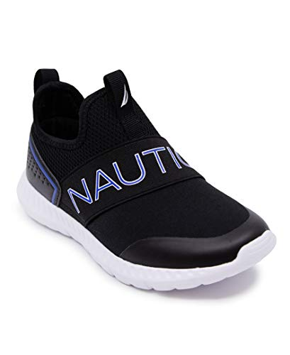 Nautica Kids Boys Sneaker Comfortable Running Shoes-Alois-Black/Cobalt-5