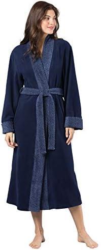 PajamaGram Women s Bathrobes Ultra Soft Fleece Womens Robe Navy XL 1X 16 18 product image