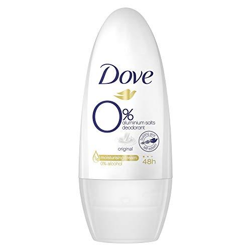 Dove Roll-on Original ohne Aluminium/Alkohol, (für 24h Schutz mit 1/4 Pflegecreme) 1er Pack (1 x 50 ml)