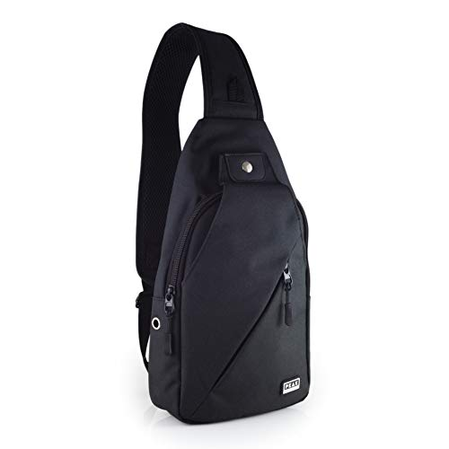 Peak Gear Sling Compact Crossbody Backpack and Day Bag (Black)