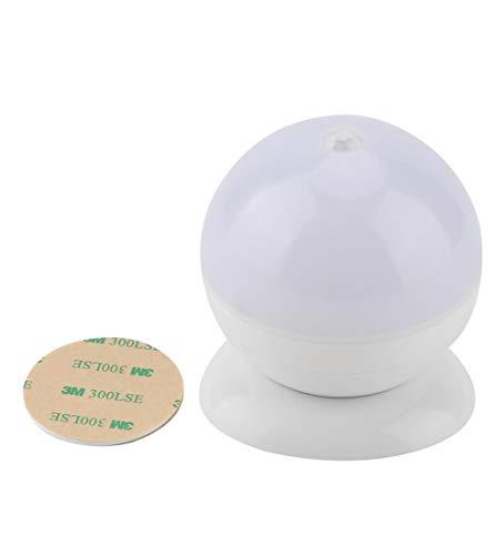 Nachtlampje, led, nachtlampje voor kinderen met automatische sensor, energiebesparend, PIR, werkt op batterijen, kleurrijk, 3M-lijm voor kinderkamer, slaapkamer, badkamer, hal, kast