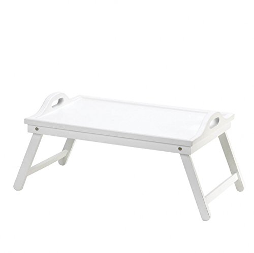Breakfast In Bed Tray, Serving Tray With Legs, Modern White Folding Bed Tray