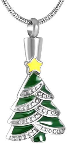 Asche Halskette Edelstahl Weihnachtsbaum Memorial Asche Anhänger Memorial Grau Souvenir Cremated Jewelry Frauen Halskette Box Trichter