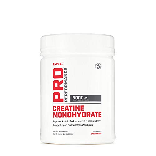 GNC Pro Performance Creatine Monohydrate - Unflavored, 200 Servings, Improves Athletic Performance