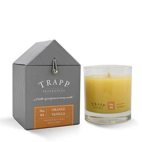 Trapp Signature Home Collection No. 4 Orange Vanilla Poured Scented Candle, 7 Ounce