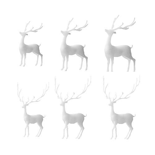 6 Stück Mini-Elch-Harz-Formfüller-Set, Kunststoff-Rentier, Kunstharzfüller, Ständer, Elch-Hirsch-Form, 3D-Wald, Mikro-Landschaft, Zubehör für Heimwerker, Basteln, Füllung, Form, Schmuckherstellung