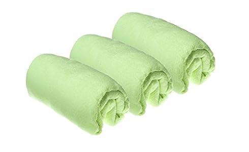 Easy Dort - Juego de 3 fundas para cambiador de pañales (algodón, 50 x 70/80 cm), color verde