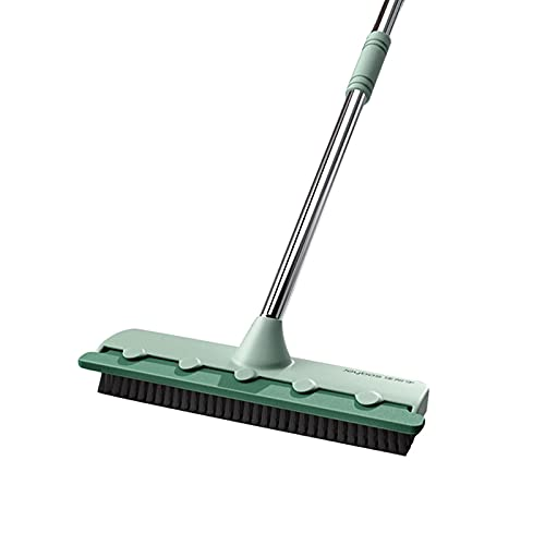 Trapeador de piso, raspador de eliminación de polvo, cepillo de limpieza de alfombras, raspado, doble propósito, fregado de pisos, azulejos de baño, limpiador de pelo para mascotas