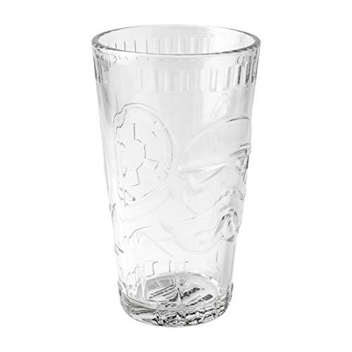 Paladone Stormtrooper geformtes Glas | Star Wars Neuheit Trinkgeschirr | Perfekter Gesprächsstarter für Arbeit oder Zuhause