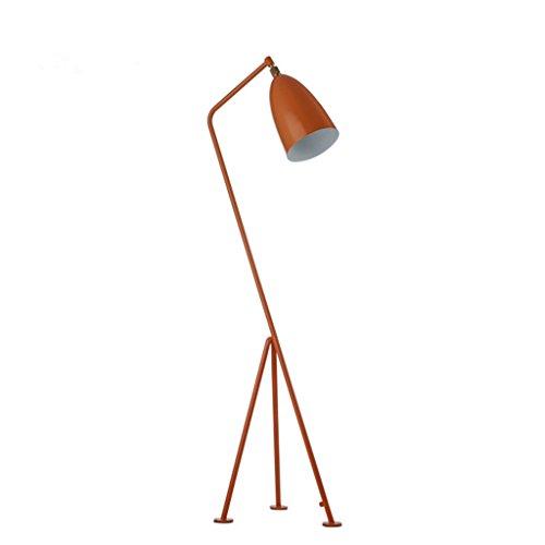 Lámpara de pie Lámpara de pie de hierro minimalista nórdica, diseño creativo del trípode, lámpara de pie moderna del dormitorio del estudio de la sala de estar, H150cm lámpara de lectura