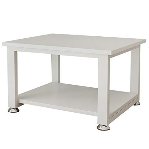 FFF8 Estante de sobremesa para cocina, microondas, estante de almacenamiento, impresora de doble capa, rack, MDM, blanco, 50*40*24cm
