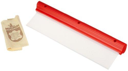 NIGRIN 71112 Performance Silikon-Trockner und Autoleder im Set, Wasserabzieher für Lack und Glas am Auto geeignet, streifenfreie Sauberkeit