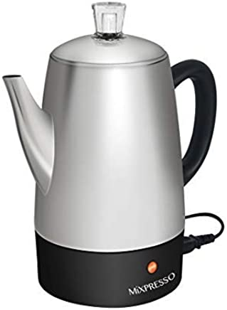 Mixpresso Electric Coffee Percolator | Stainless Steel Coffee Maker | Percolator Electric Pot - 10 cups