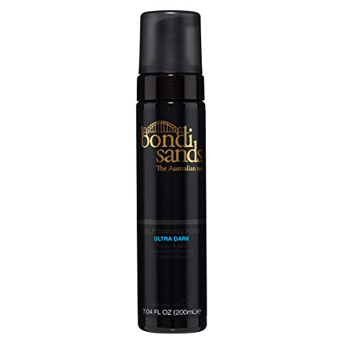 Bondi Sands Self Tanner Foam- Self Tanner Mousse for Quick Sunless Tanning - Use For A Natural Looking Australian Golden Tan (7.04 FL OZ) (Ultra Dark)