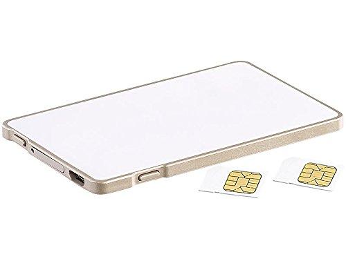 Callstel Dual SIM Adapter für iPhones iPads: Dual-SIM-Adapter mit Bluetooth, für iPhone ab 4s, mit Selfie-Taste