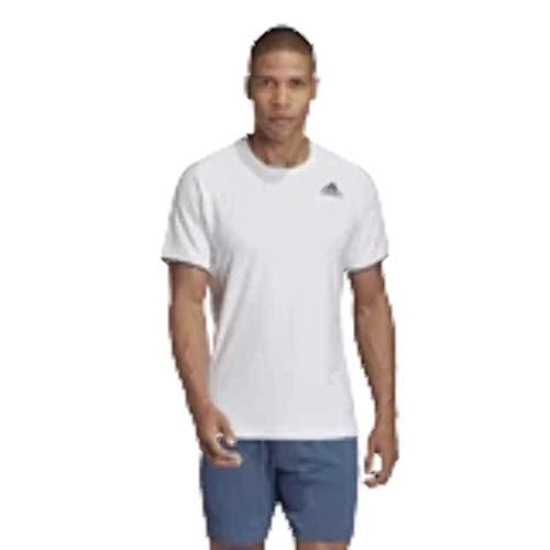 adidas Men's Tennis Freelift Tee White XX-Large