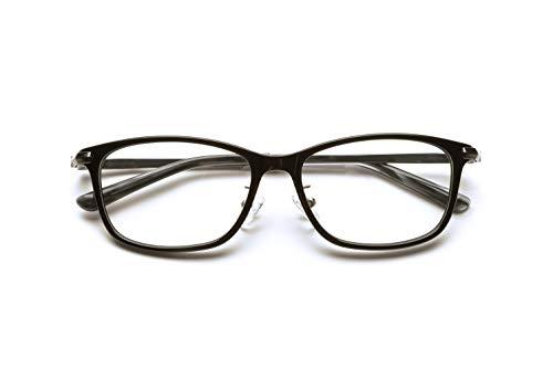 ピントグラス シニアグラス (老眼鏡1本で度数:+0.60D 〜 +2.50Dの累進設計) 定番のウェリトンタイプ (ブラック)