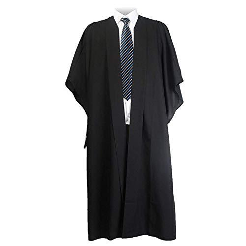 GraduatePro Toga Laurea Costume Unisex Nero Donna Uomo Celebrazioni di università Maturità Stile Britannico