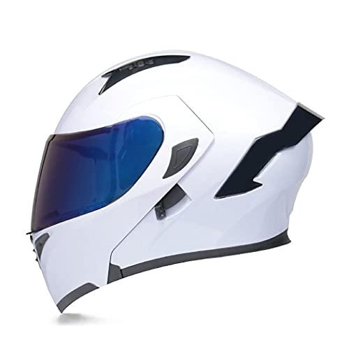Smilfree Modular Motocicleta Casco Integral para Motocicleta Casco Integrado con CertificacióN Dot/ECE para Motocicleta Lentes Duales Adecuado para Hombres Y Mujeres Adultos