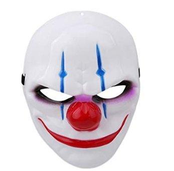 AK.SSI Mehrfarbige Clown-Maske Halloween Maske Kostüm Horror Gesichtsmaske 1 Stück