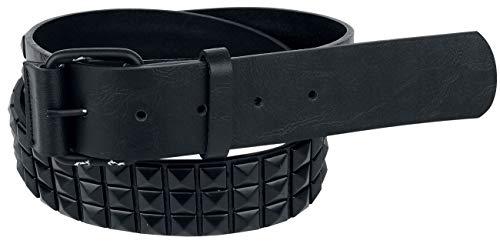 Black Premium by EMP Studded Belt Unisex Gürtel Used Look schwarz 115 cm