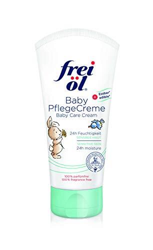 frei öl Baby PflegeCreme, essbar, für Gesicht und Körper, babysicher mit natürlichen Ölen, begleitend bei Neurodermitis, spendet 24 Std. Feuchtigkeit und wertvolle Lipide (1x50ml)