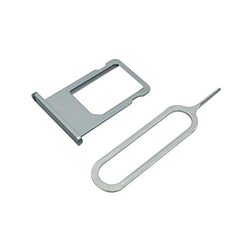 Cemobile für iPhone 6 SIM Karten Halter Slot Tray Holder Ersatz + SIM Karten öffnen Nadel (Grau)