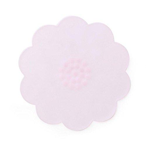 Beiguoxia réutilisable en silicone Couvercle de bol de nourriture stretch couvercles fraîcheur ustensile de cuisine Taille unique rose